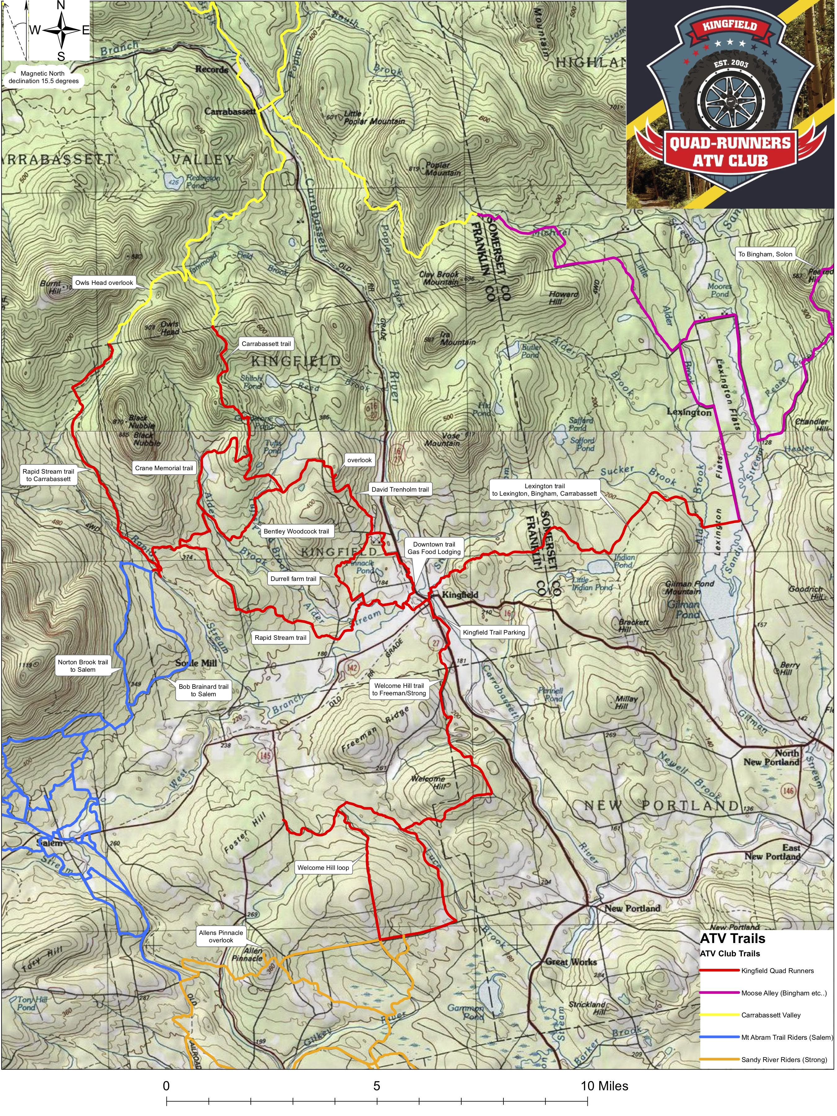 DRAFT Trail Map Summer 2019 Kingfield Quad Runner ATV Trail Map Summer 2019